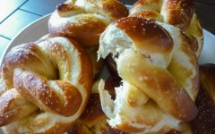 Homemade Soft Pretzels, Torn